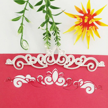 Lace one-sided crown drawing metal cutting die new paper jam article DIY scrapbook / business card printing decorative knife
