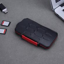 Storage-Box Memory-Card-Case Waterproof 12tf-Card Micro Black SIM Red 12SD Capacity-Box