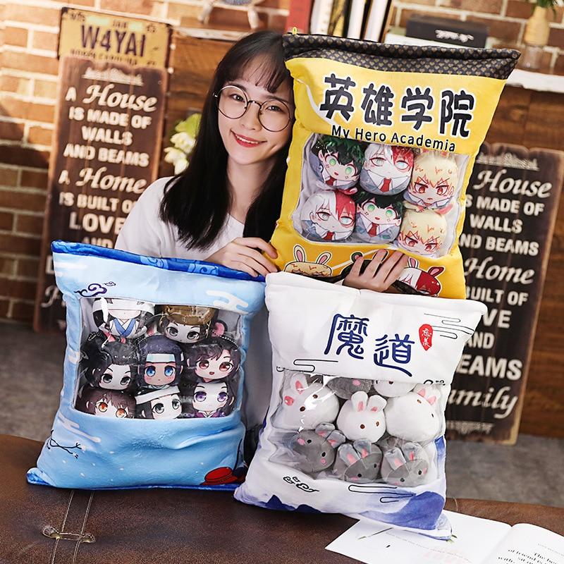 Grandmaster Of Demonic Cultivation Demon Slayer My Hero Academia Anime Cosplay Plush Doll Soft Stuffed Toys Pillow Cushion Gifts