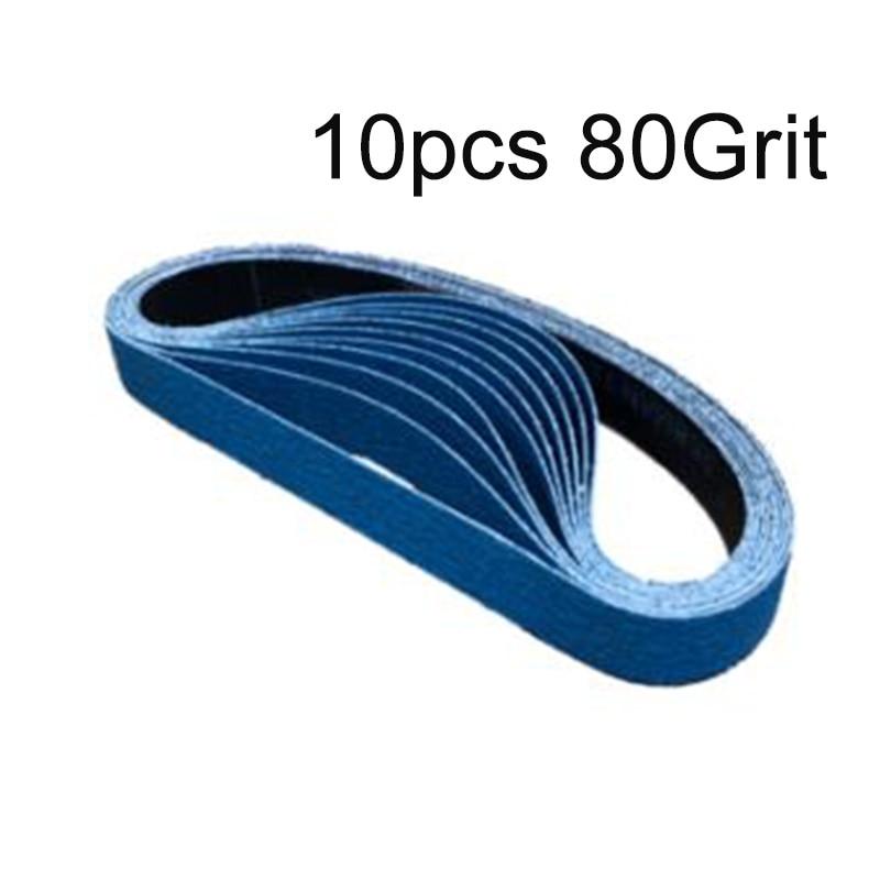 File Sanding Belts- Zirconia 80 Grit 12mm X 610mm Backing Kit Workshop Equipment