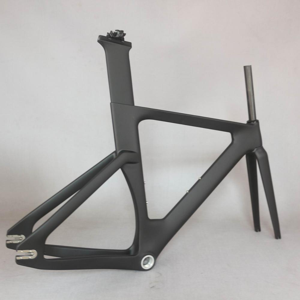 2019 OEM new full carbon track frame road frames fixed gear bike frameset with fork seat post  carbon bicycle frame