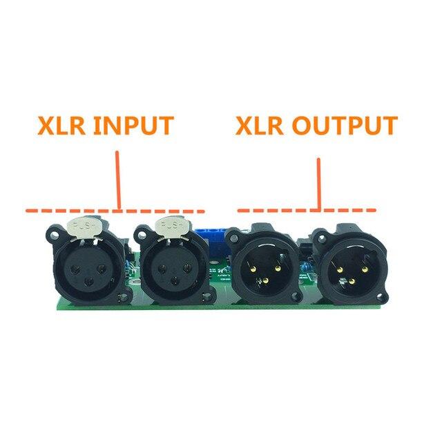Mshow DIY zrównoważony przedwzmacniacz płyty niezbalansowany do zbalansowanego RCA do XLR do przedwzmacniacza HIFI AUDIO darmowa wysyłka