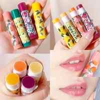 Bálsamo labial hidratante de larga duración, sabor a frutas, humectante para labios, barras de labios hialurónico, maquillaje para la piel muerta antienvejecimiento, TSLM1, 1 Uds.