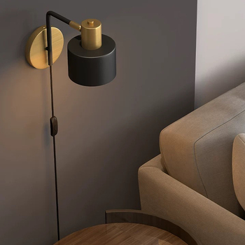 Modern decor wall lamp bedroom Mirror Corridor arm swivel with switch LED reading light night for bedside indoor home interior