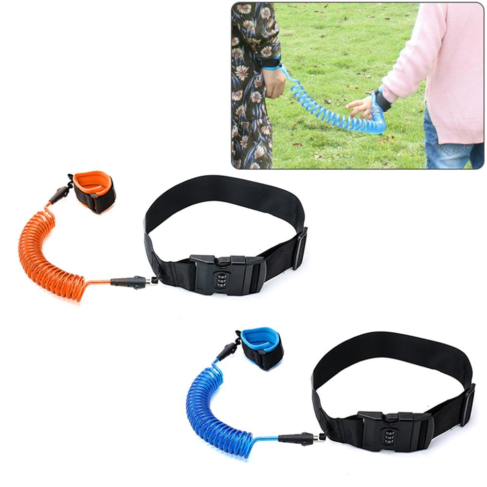 Kids Baby Coded Lock Safety Anti-lost Elastic Strap Rope Wrist Waist Band Belt Outdoor Walking Hand Belt Anti-lost Wristband