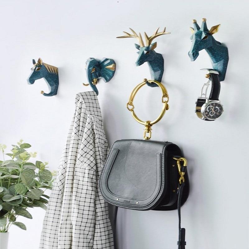 Hook  Home Decoration Hanging Key Hook  Wall Coat Hook Multifunctional Animal Free Punch Hook Head Coat Hook