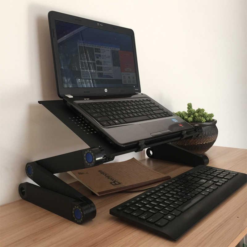 Computer Schreibtische Tragbare Verstellbare Faltbare Laptop Notebook Lap PC Folding Schreibtisch Tisch Entlüftet Stehen Bett Tablett