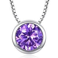 Mode princesse collier pendentif pendentif pendentif envoyer petite amie ronde unique AAA Zircon collier collier bijoux de fiançailles Acces