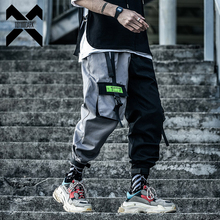 11 BYBB'S DARK Hip Hop Cargo Tactical Pants Men Streetwear Patchwork Pant Male Harajuku Joggers Color Block Trousers Ribbon XN43