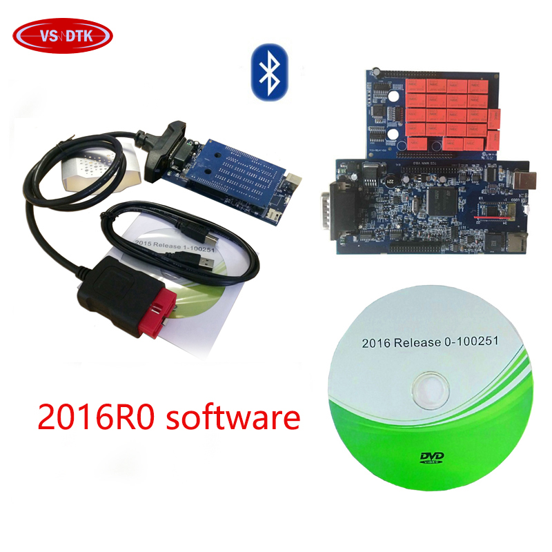 SALE !! <font><b>VD</b></font> <font><b>DS</b></font> <font><b>150E</b></font> <font><b>CDP</b></font> PRO 2016.R0 newest software with bluetooth car and truck obd2 diagnostic tool for delphis. image
