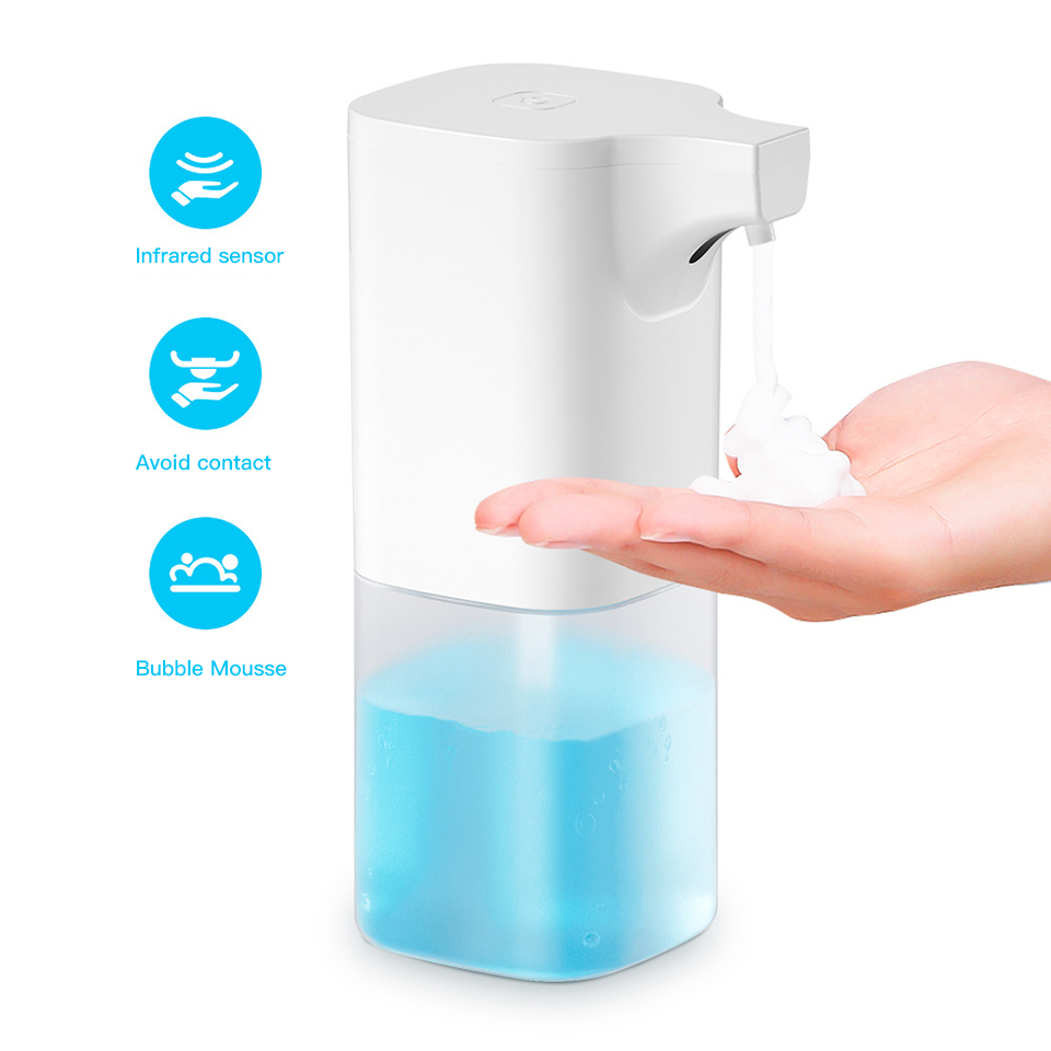 Original Automatic Induction Foaming Hand Washer Dispenser No Contact Wash Soap 0.25s Infrared Sensor For Smart Homes 350ml Max