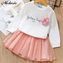 Bear Leader Baby girl clothes 2015 New Spring and Autumn BLOGGER long sleeve T-shirt + gray elegant princess dress kids clothes