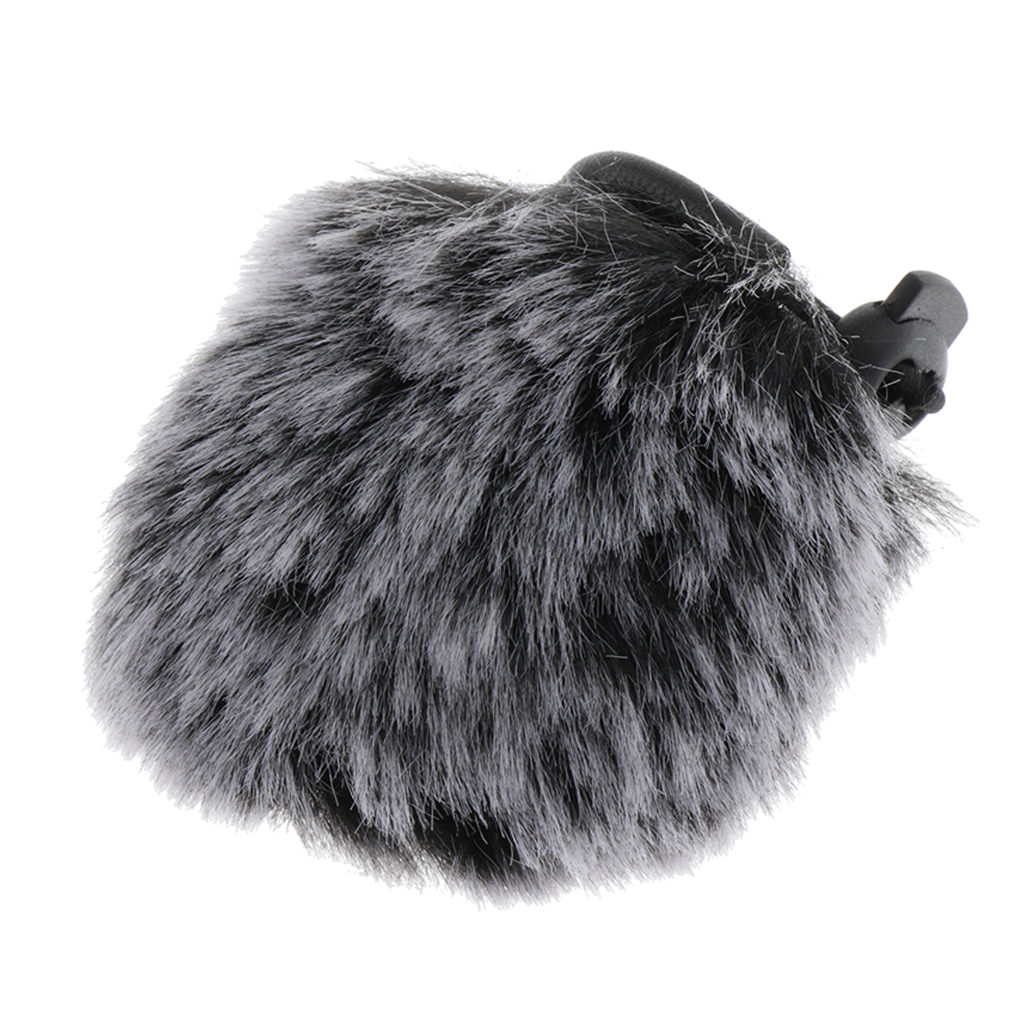 Microphone Windscreen - Outdoor Wind Shield Mic Windshield Muff Fur Fit For Camera Microphone, 4x5cm