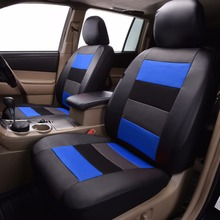 automobile car seat covers PU leather mesh protectors SUV airbag compatible breathable rear bench split 40/60 50/50 60/40