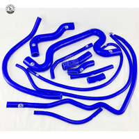 Silicone Radiator hose For Alfa Romeo 75 1.7 Turbo 1986 1992 (12pcs) RED/BLUE/BLACK