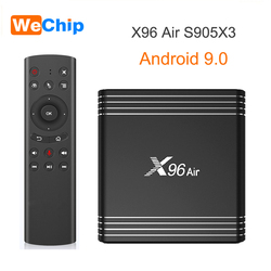Wechip X96 Air Android 9.0 tv  pudełko Amlogic S905X3 DDR3 2GB 4GB RMB podwójny Wifi Bluetooth 4.0 dekoder YouTube 1080P odtwarzacz hd