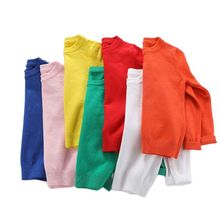 Pure Color Baby Girl Wool Sweater 2020 Knitted Shirt Spring Autumn Outfit Toddler Boy Clothes College Style Kids Cotton Pullover