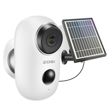 ZOSI Rechargeable Battery Powered IP Camera Solar Power Charging 1080P HD Outdoor Wireless Security WiFi Camera