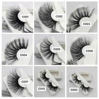 30pcs Multilayers Handmade 30mm Lashes 100% Mink Hair False Eyelashes Wispy Fluffy Lashes Thick Long Eye Makeup