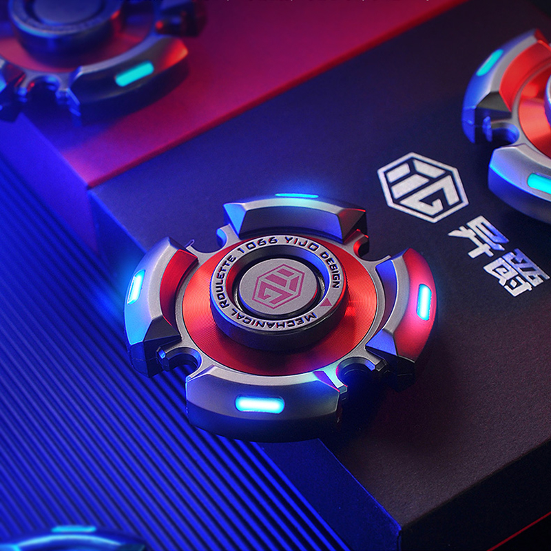 Metal Fidget Spinners Toys R188 Adults Senior Gyro Bearing Relieve-Stress Luminous img4