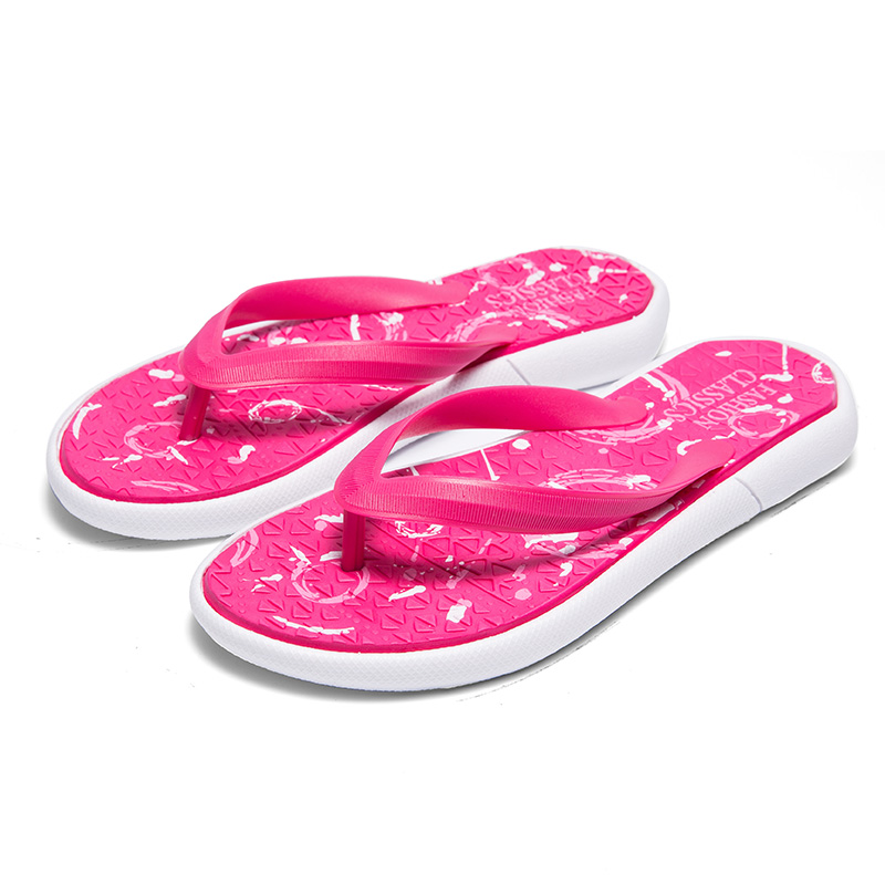 Womens Mens Couple Summer Slip-on Shoes Anti-slip Hard-wearing Fashion Leisure Slippers Beach Swimming Indoor T-tied Flip Flops