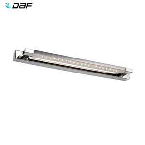 Image 1 - 무료 배송 5W LED 벽 조명 SMD5050 스테인레스 스틸 LED 미러 조명 램프 AC110V/220V 욕실 거울 조명