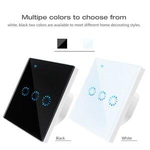 Image 3 - Touch Schalter EU Wifi Smart Touch Schalter 1/2/3 Gang Drahtlose Fernbedienung Licht Schalter ewelink App Steuer Arbeit mit Alexa Google hause