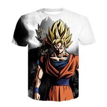 New Hot Dragon Ball Z Goku Black Vegeta 3D T-shirt Men 2020S