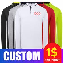 Coct 2020 Новая повседневная рубашка поло с длинным рукавом