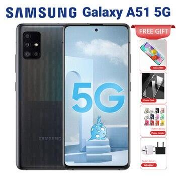Перейти на Алиэкспресс и купить Оригинальный Samsung Galaxy A51 A5160 5G мобильный телефон 128 ГБ 8 ГБ 6,5 дюймExynos 980 Восьмиядерный четырехъядерный смартфон 48MP 4500 мАч NFC