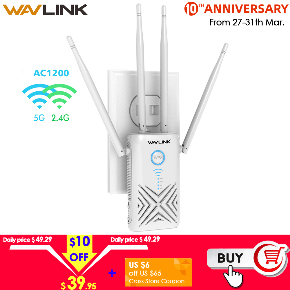 Wavlink 5Ghz 1200Mbps Wi-fi Router/Repeater/Access Point High Power Dual Band Gigabit Wireless WiFi Range Wifi Signal Amplifier