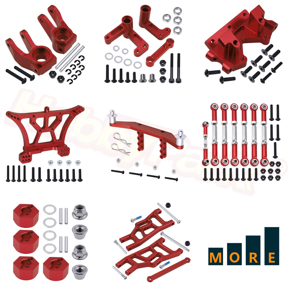 Metal Aluminum Alloy Upgrade Parts for Traxxas Slash 2WD 1/10 Scale RC Short Course Racing Car 58024 Replacement Option Hop-Ups