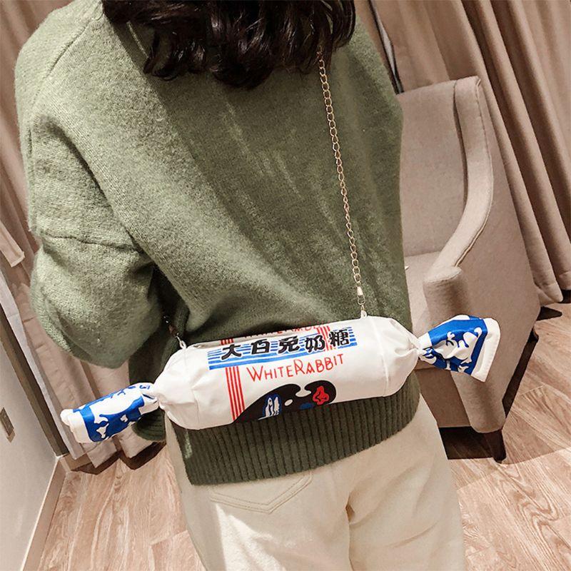 Новая модная холщовая конфетная сумка с рисунком белого кролика