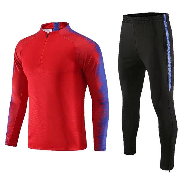 Kids Adults Soccer Jerseys Sets Survetement Football Kits Men Child Running Jackets Sports Training Tracksuit Uniforms Suit 9