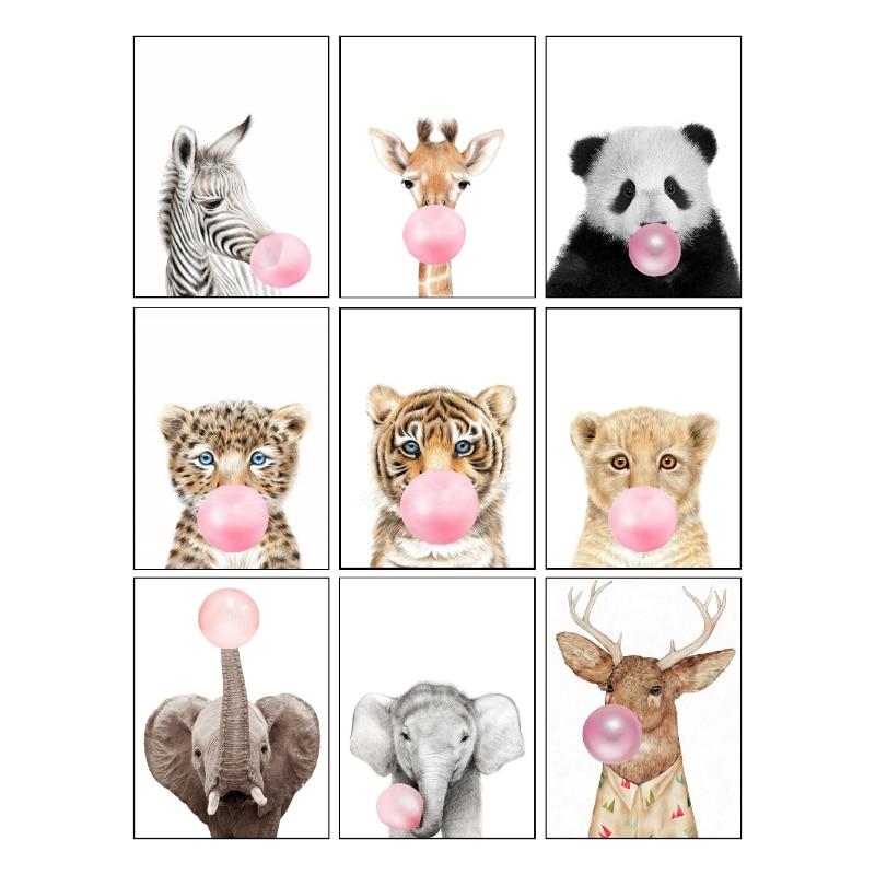 Conisi Panda Tier Kinderzimmer Leinwand Kunst Poster Drucken Wand Bilder Leinwand Malerei Cuadros Quadro Kinder Kinder Wohnzimmer Decor