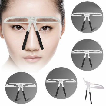 2019 Fashion Brand New Hot Sales Eyebrow Stencil Measure Ruler 3D Balance Template Stencil Shaper Makeup Tool