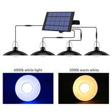 Waterproof 1/2/3/4 Head Solar Pendant Light Outdoors Indoor Chandelier Solar Lamp With Line Warm White/White Garden Lighting