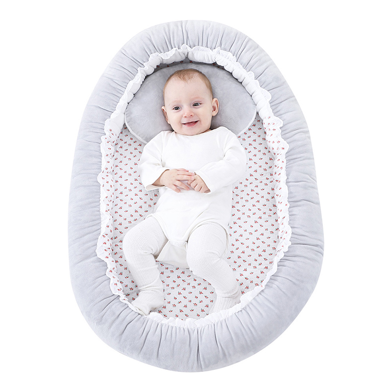 Portable Baby Bed Multi-function Infant Crib Nursery Travel Anti-vomiting Pillow Sleep Positioning Wedge Anti-Reflux Cushion 1