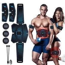 EMS тренажер для мышц живота стимулятор ABS Электростимуляция фитнес-массажер живот потеря веса похудение оборудование для домашнего спортзала