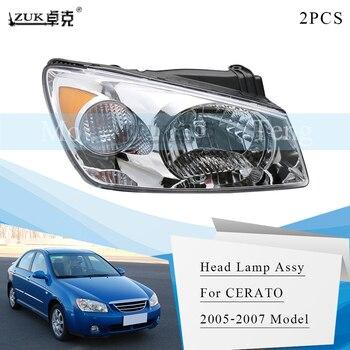 ZUK 1PAIR Front Bumper Headlight Headlamp Head Light Head Lamp Sub-Assy For KIA CERATO 2005 2006 2007