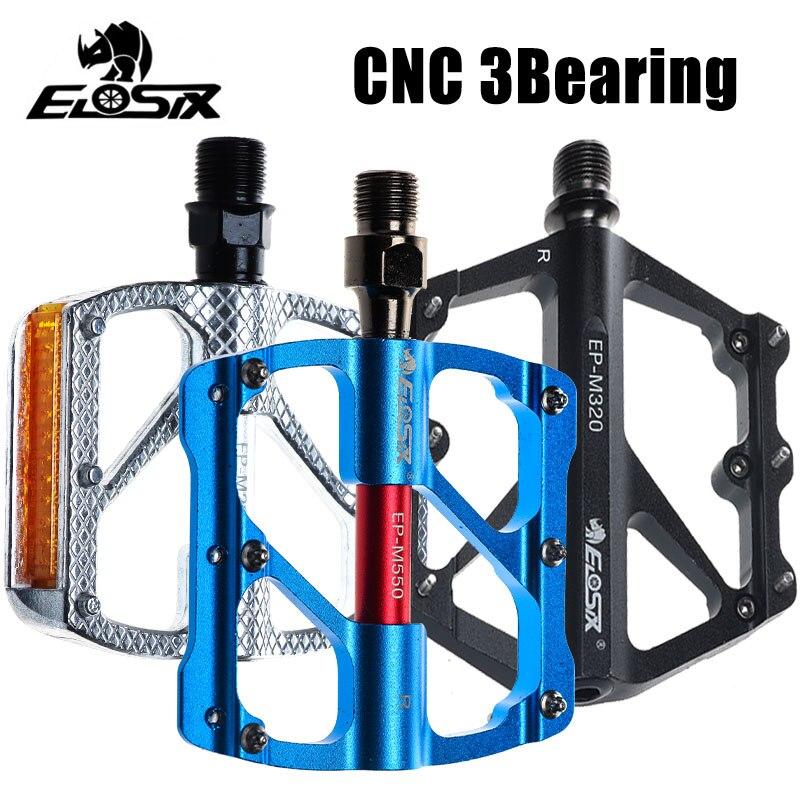 MTB Mountain Bike Al Alloy Pedals BMX Bicycle Flat Platform 3Bearing Ultralight