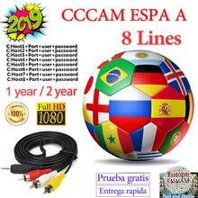 CCcam espa сервер Satble 8 линия Испания Европа Португалия Польша Франция Италия ccam espa сервер HD для рецепторов satelite