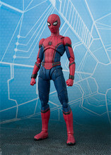 Marvel Spiderman Action Figure SHF Spider Man Back to School Season Model Toys