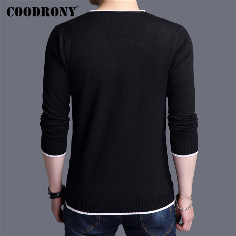 COODRONY Brand Sweater Men Casual V-Neck Pull Homme 2019 Autumn Winter Knitwear Pullover Men Soft Sweaters Clothes jersey C1001