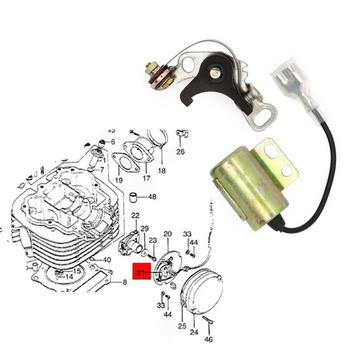 Kontakt Breaker zestaw tuningowy zapłonu punkty i skraplacze 30202-107-004 dla Honda CT90 ATC90 CM91 tanie i dobre opinie MotoParty Contact Breaker Ignition Tune Up metal