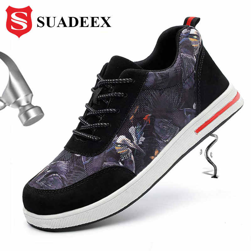 SUADEEX Men Safety Shoes Breathable