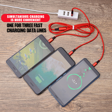 USB Cable For iPhone XS Max XR X 8 7 6 5 For Xiaomi Samsung Charging Charger 3 in 1 Micro USB Type C Lighting Charger Cord дата кабель usb micro usb lighting для iphone 5 6 7