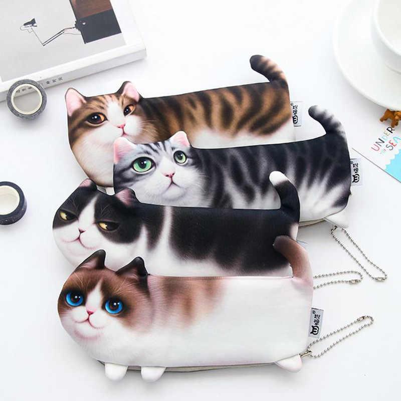 1pcs Black Cat กระเป๋าตุ๊กตา Plush สัตว์ความสูงขนาดใหญ่ของเล่นเด็กเบาะนอนเด็กทารกช้างน่ารักมาพร้อมกับของขวัญ