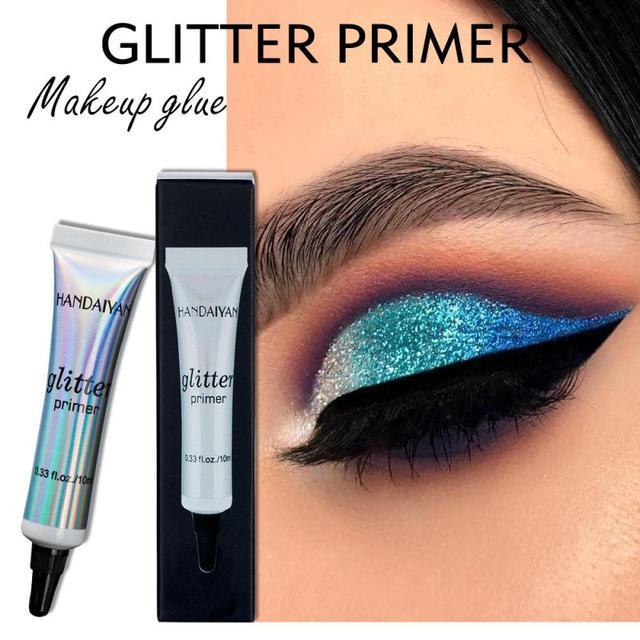 HANDAIYAN Glitter Primer Sequined Primer Eye Makeup Cream Waterproof Shimmer Diamond Face Body Shiny Skin Festival Makeup TXTB1 1