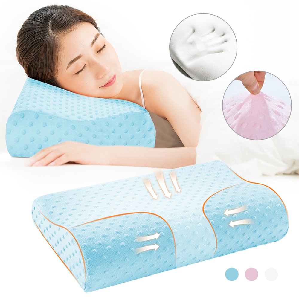 Memory Foam Bedding Pillow Butterfly Shaped Relax Neck Protection Orthopedic Slow Rebound Cervical For Health Care 50x30cm